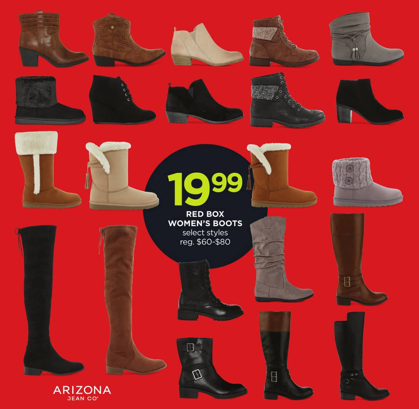 fb2064401bd5 JCPenney Black Friday  Red Box Arizona Women s Boots for  19.99 ...