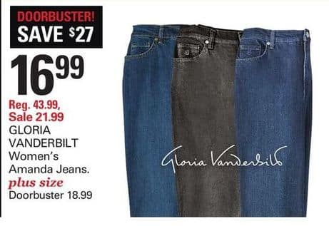 b0463d10e04 Shopko Black Friday  Gloria Vanderbilt Women s Plus Size Amanda Jeans for   18.99
