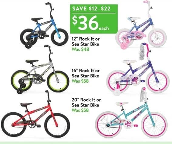 Walmart Black Friday 20 Rock It Or Sea Star Bike For 36 00