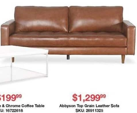 Fabulous Overstock Black Friday Abbyson Top Grain Leather Sofa For Caraccident5 Cool Chair Designs And Ideas Caraccident5Info