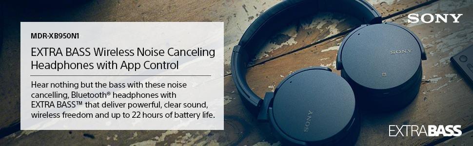 Sony XB950N1 Extra Bass Wireless Noise Canceling Headphones, Black @ Amazon $113