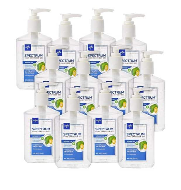Medline Spectrum Advanced Hand Sanitizer Gel Hand-Pump Bottles (12 ct., 8 oz. each) - Sam's Club - $44.96 + Shipping