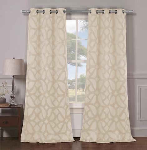 Set of 2 Woven Triple Layered Blackout Panels (various styles) $20 @ flash steals