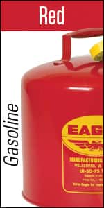 Eagle UI-50-FS Red Galvanized Steel Type I Gasoline Safety Can with Funnel, 5 gallon Capacity, Amazon $35.49