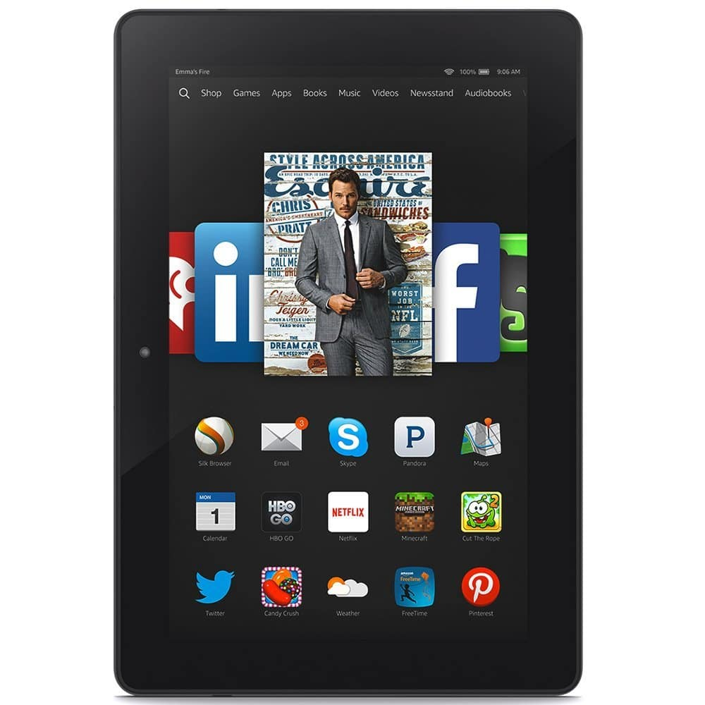 "Amazon Fire HDX 8.9"" Tablet (Includes Special Offers), Full-HD 339ppi Touchscreen, 2.5GHz Quad-Core Processor, Dual-Band Wi-Fi $119/16GB or 139/32GB"