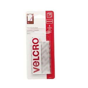 "Velcro Sticky Back - 3 1/2"" x 3/4"" Clear Adhesive Strips (4 ""sets""), $2.44 + Free Shipping with Prime"