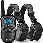 Pethin Dog Training Collar  600 Feet Range - Rechargeable and Waterproof - Strong Electronic Vibration + Static Shock EZ 7 Control Buttons $21.99 FS Prime