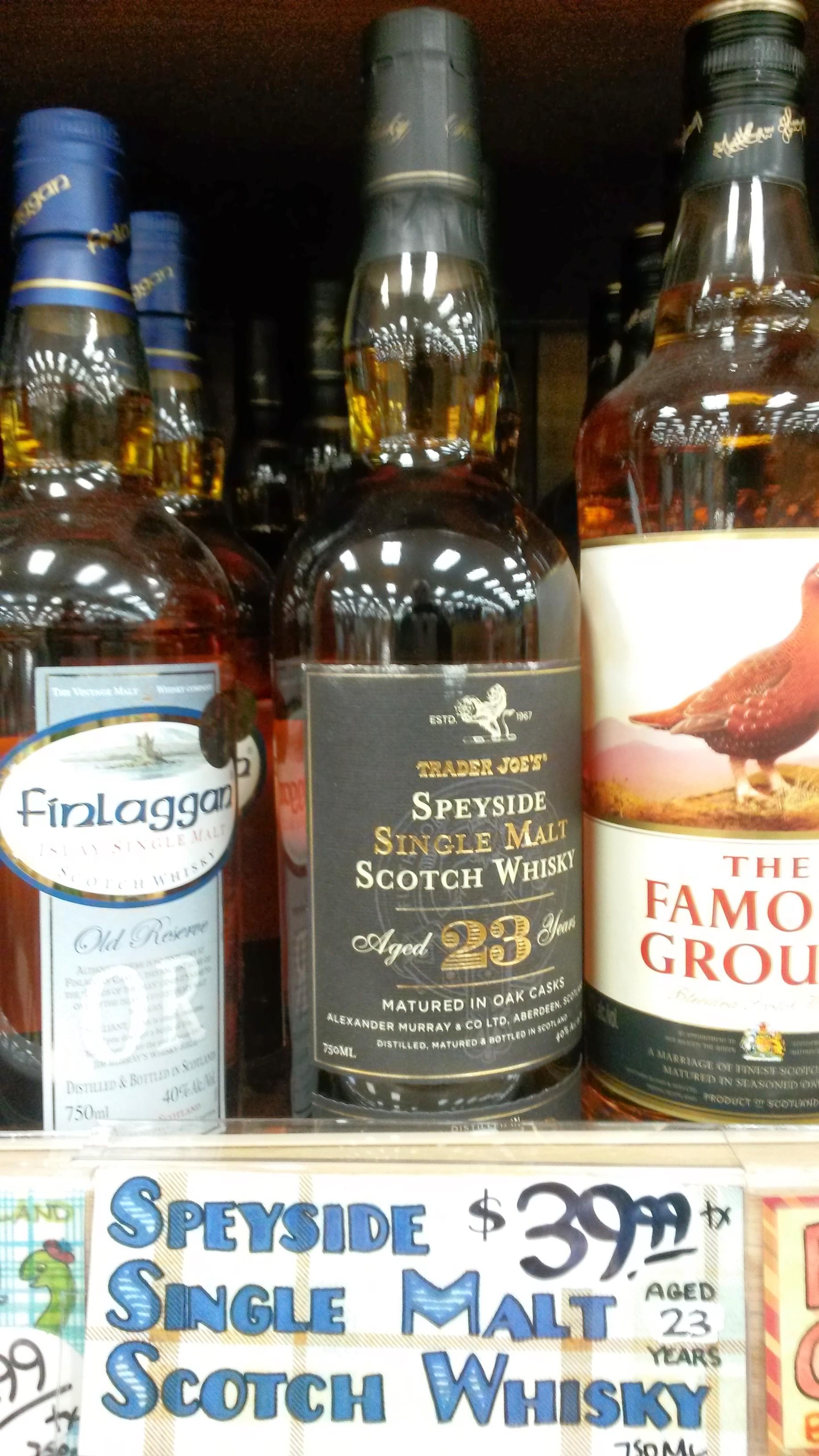 23 y.o. Speyside Single Malt Scotch Whisky - $39.99 at Trader Joe's (B&M)