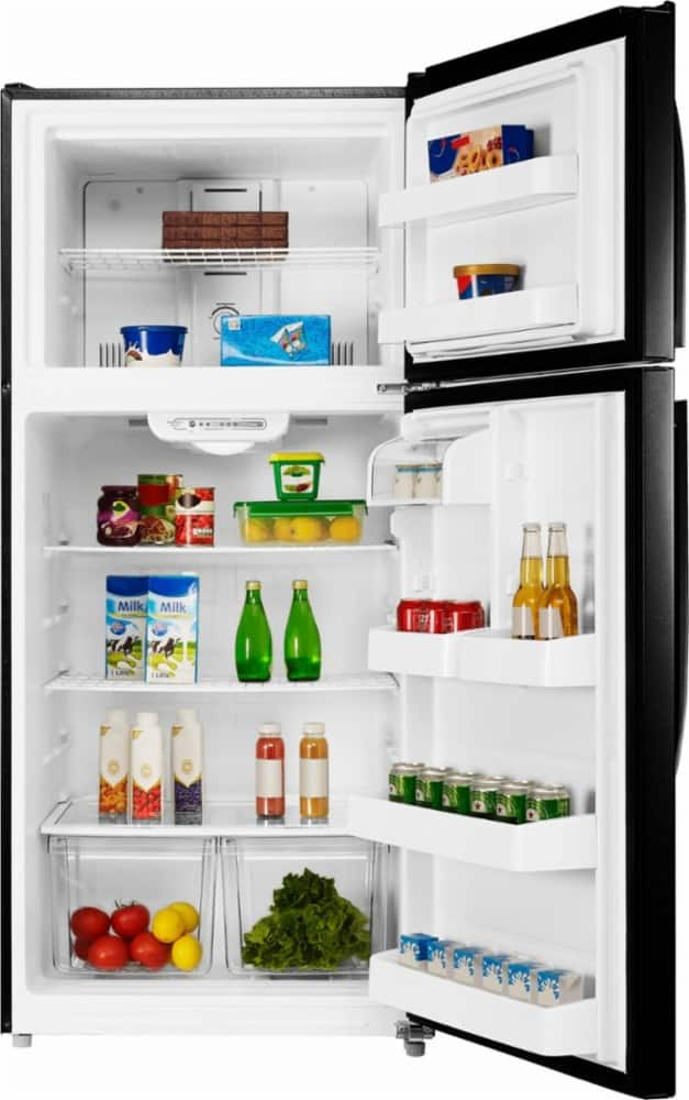 Insignia™ - 18.1 Cu. Ft. Top-Freezer Refrigerator - $278.99 open box (fair) and up or $429.99 new - white or black - YMMV