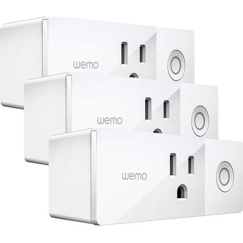 Wemo - Mini Wi-Fi Smart Plug 3-Pack - Best Buy - $79.98 plus Tax
