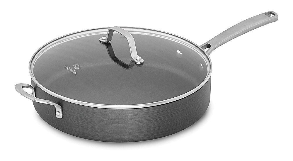 Calphalon Classic Nonstick Saute Pan with Cover, 5 quart, Grey [Gray, 5 quart, Sautee Pan] $40