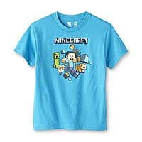 Sears Deal: Minecraft Shirts Boys and Young Mens $7.19 and up