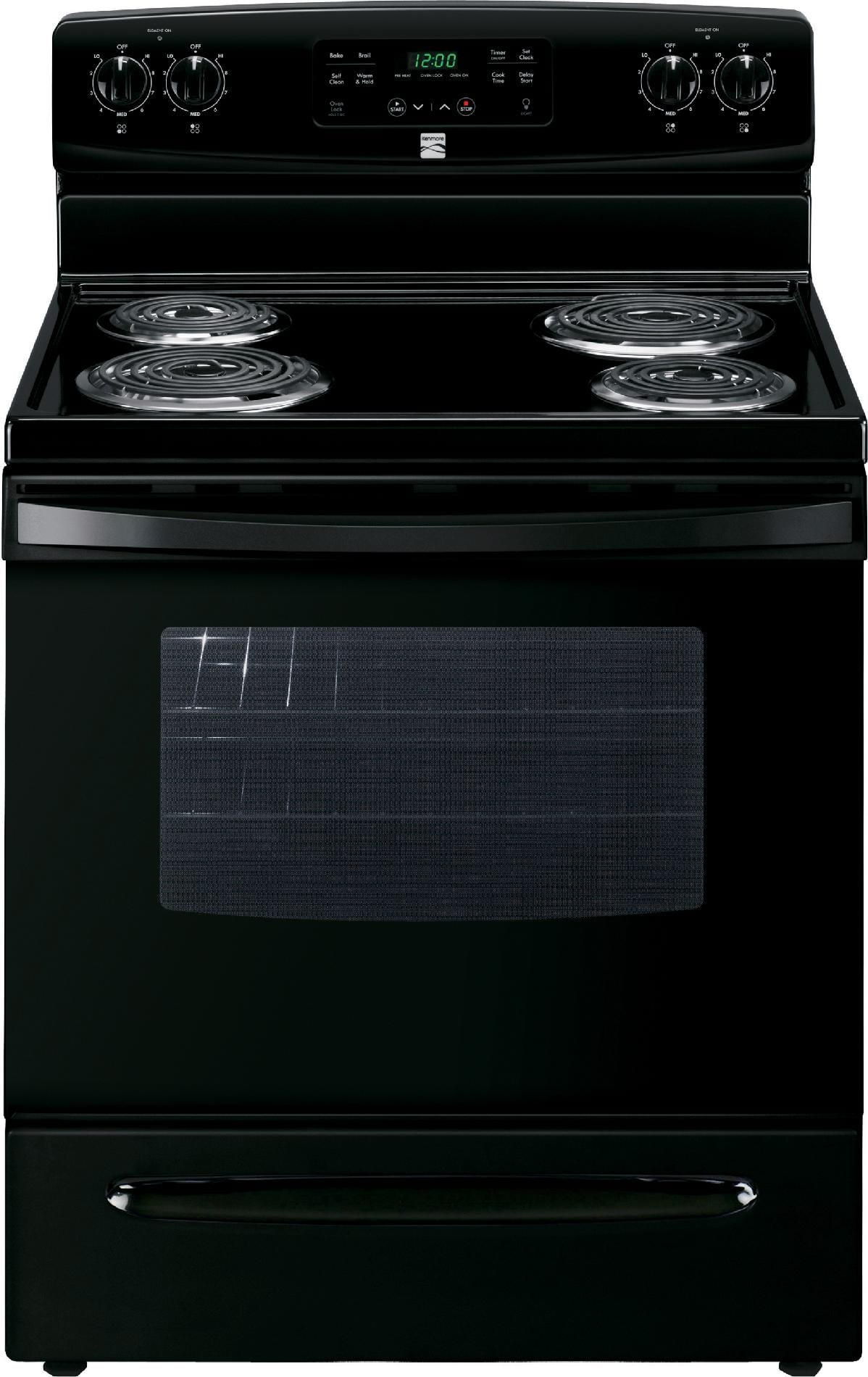 Kenmore 94149 5.3 cu. ft. Electric Range w/ Self-Cleaning Oven - Black $325. also SYW points for buying 2+ Kenmore appliances