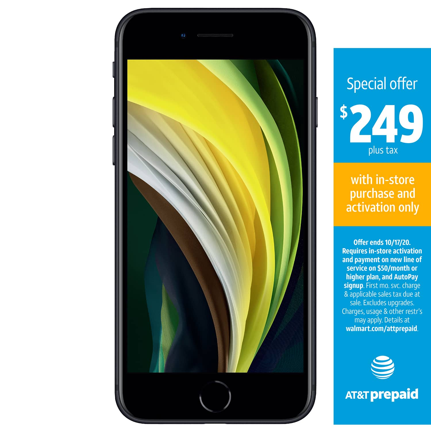 AT&T Prepaid 64 GB iPhone SE for $249 when signing up for prepaid plan of $50 or more