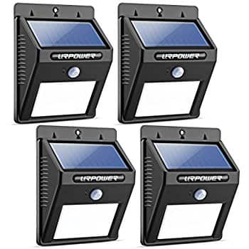 4 PACK Bright 28 LED Solar Powered Motion Sensor Security Wall Lights