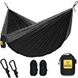 """$20 Lightweight Nylon Portable Hammock, Best Parachute Double Hammock For Backpacking, Camping, Travel, Beach, Yard. 118""""(L) x 78""""(W)"""