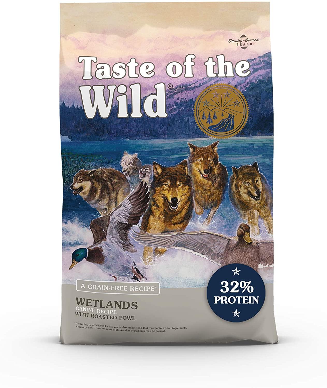 Taste of the Wild Wetlands Grain-Free Roasted Duck Dry Dog Food, 14 lbs. $14.72