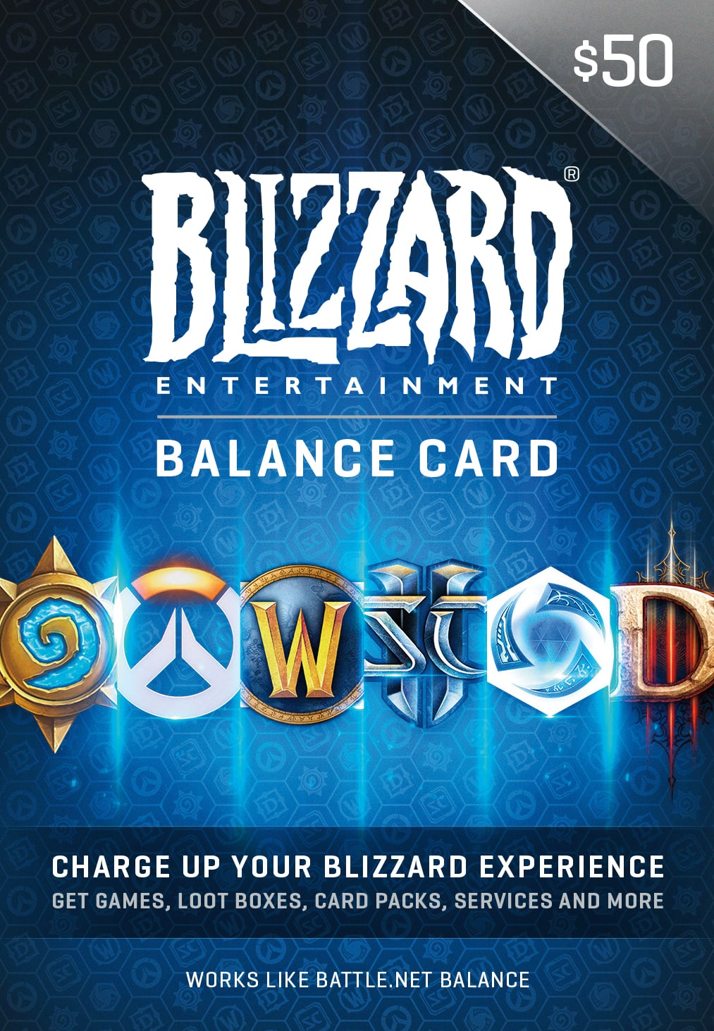 $50 Blizzard Battle.net Gift Card Balance for $40.72 via amazon