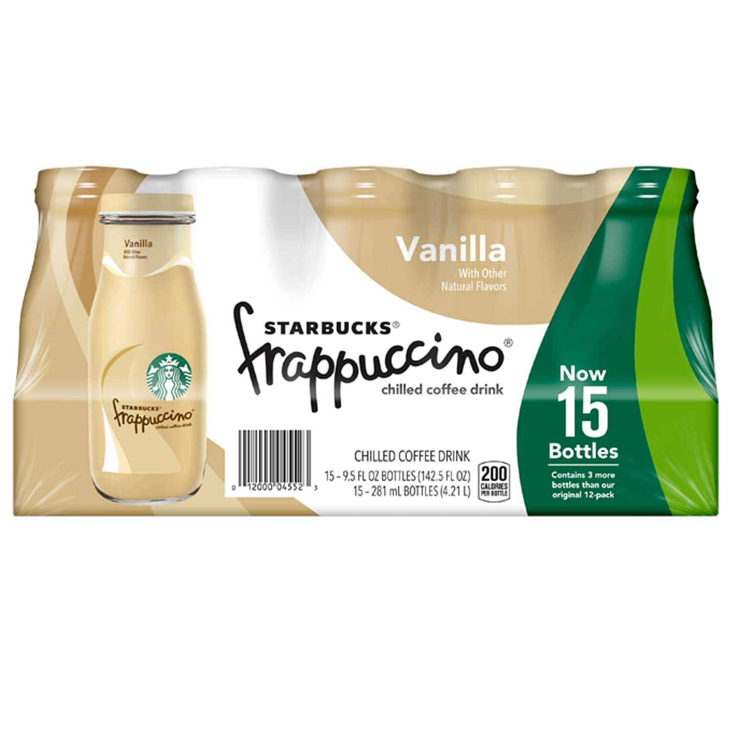 Starbucks Frappuccino, Vanilla, Glass Bottles, 9.5 Fl. Oz (15 Count) $15.75 amazon S&S