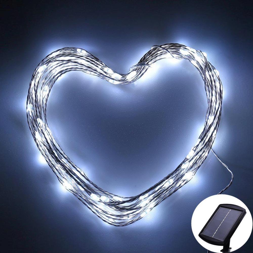 120 LED Solar Powered Fairy Lights for $5.20.