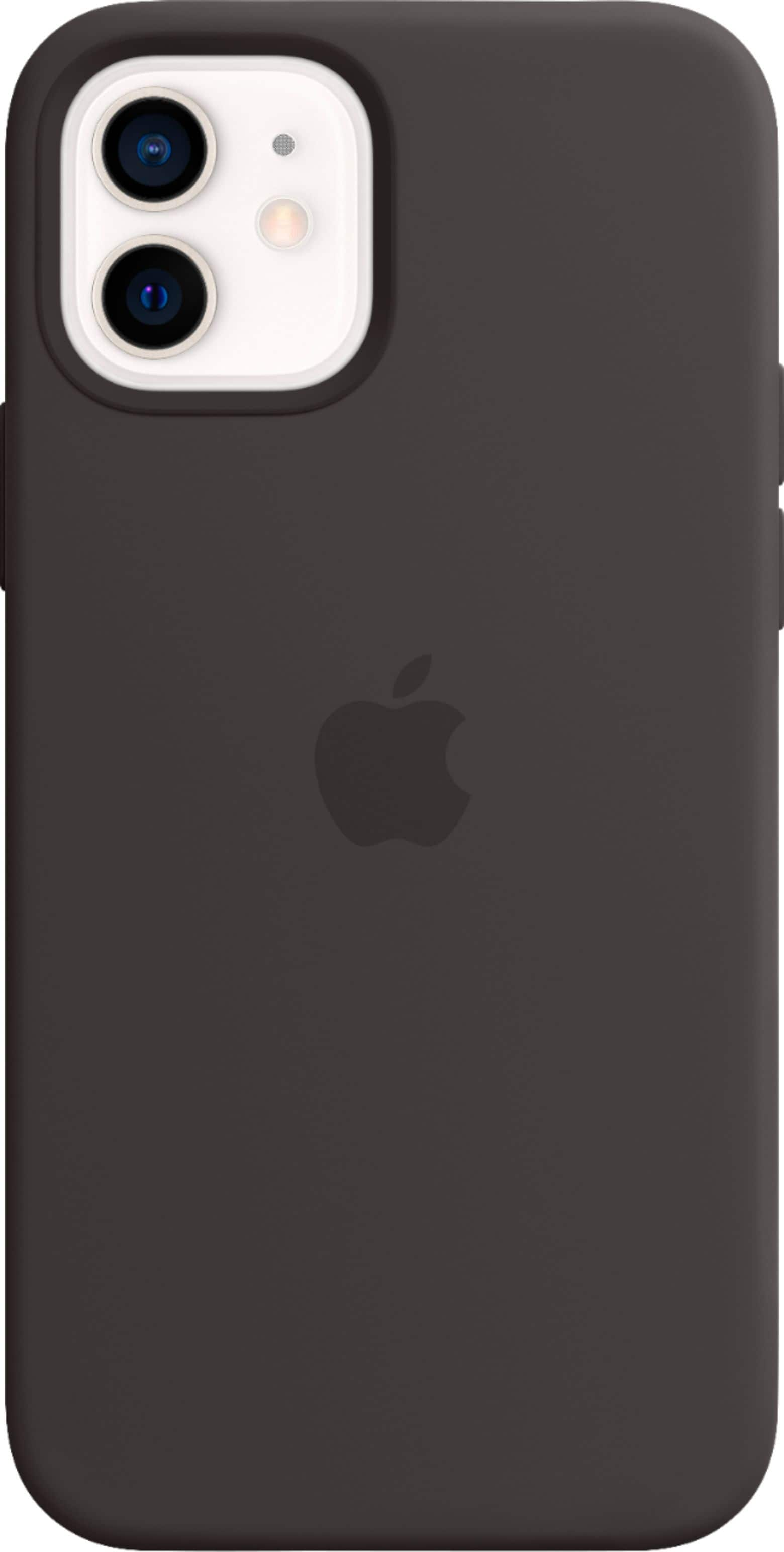 Apple iPhone 12 mini Silicone Case with MagSafe Black Best Buy - $19.99