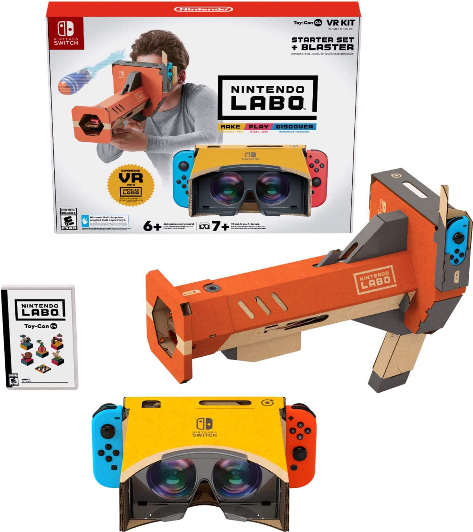 Labo Toy-Con 04: VR Kit - Starter Set + Blaster - Nintendo Switch Best Buy $19.99