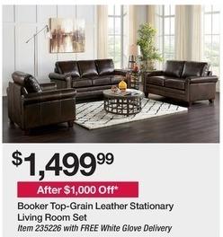 BJs Wholesale Black Friday: Booker Top-Grain Leather ...