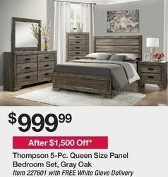 BJs Wholesale Black Friday: Thompson 5-Pc Queen Size Panel ...