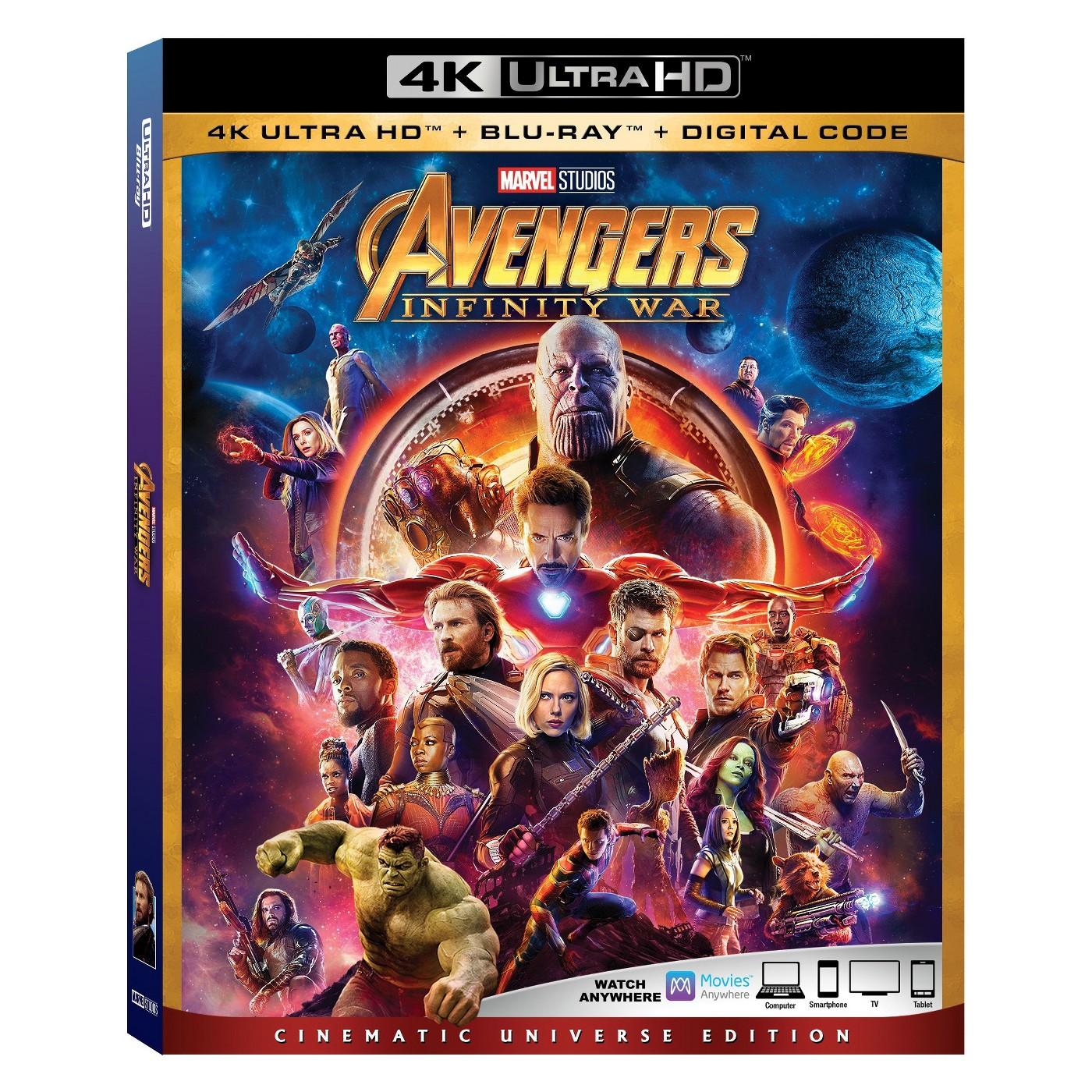 Avengers: Infiintiy War & Black Panther UHD/4K @ Target B&M with  cartwheel app + Redcard $20.18 each