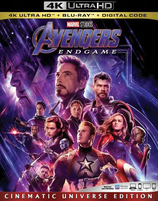 Avengers: Endgame BD $23 + $5 reward cert, UHD $30 + $5 rewards cert, YMMV