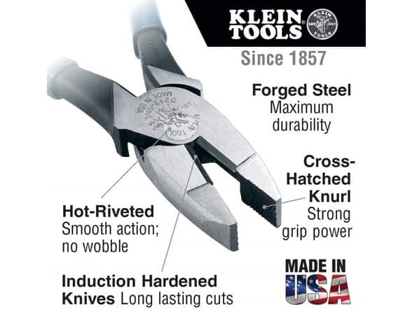 Klein Tools D213-9NE High Leverage Pliers, 9-Inch Side Cutters $20 on Woot.com