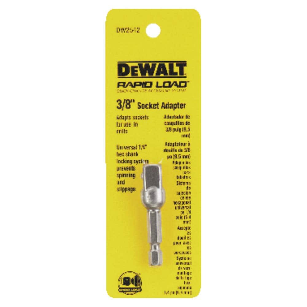 DEWALT DW2542 1/4-Inch Hex Drive to 3/8-Inch Socket Adapter $2.67 at Amazon