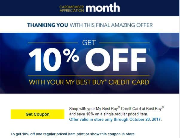 Best buy credit card holder 10 off coupon ymmv for America s best contacts coupons