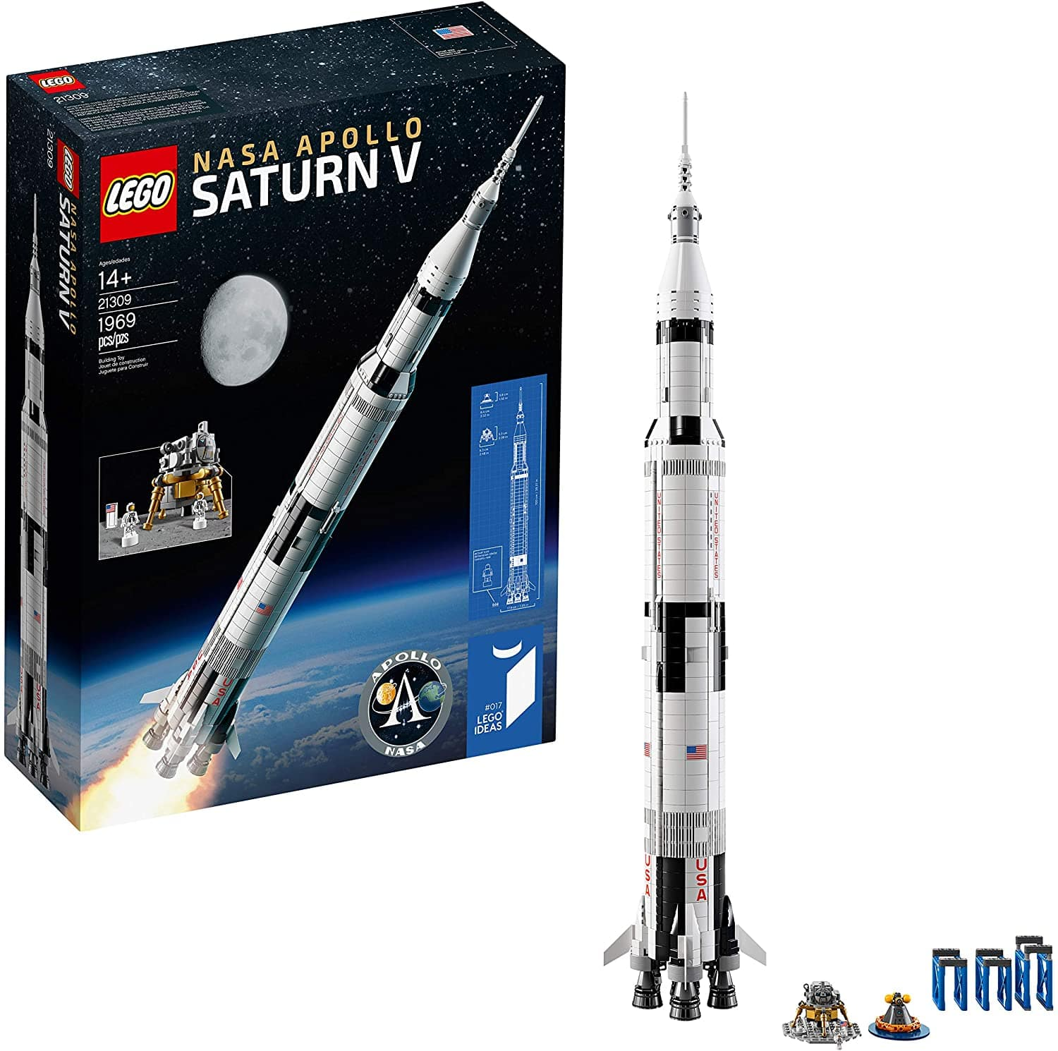 AMAZON HAS LEGO Ideas NASA Apollo Saturn V 92176 Outer Space Model Rocket for Kids and Adults, Science Building Kit (1969 Pieces) FOR $119.99
