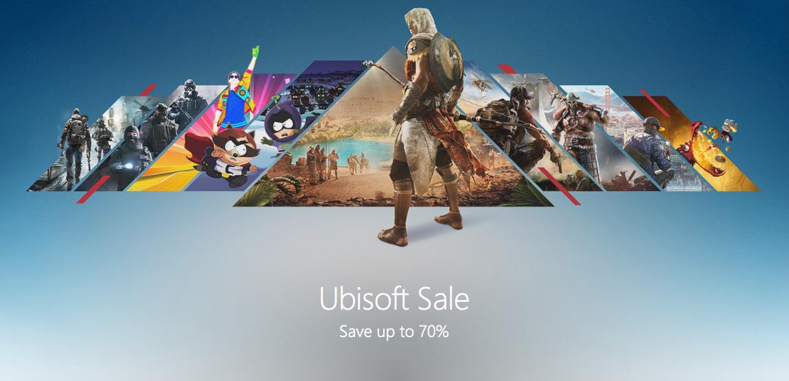 Ubisoft Game Sale @ Xbox.com, up to 70% off