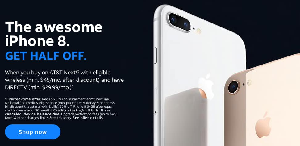 iphone deals at t iphone 8 at amp t 50 iphone x 8 plus 350 11788