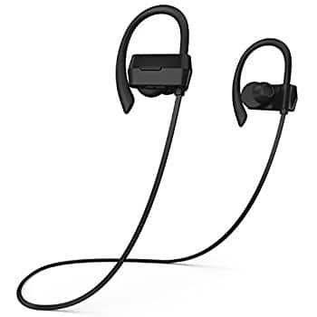 Phaiser BHS-430 Bluetooth Headphones, Sweatproof Wireless Earbuds For Working Out w\ Mic, Stereo Earphones for Exercise & Gym, Cordless Sport Headset - Blackout $18.99