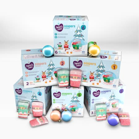 YMMV 50% off diapers - Parent's Choice Limited Edition Holiday Baby Diapers $5