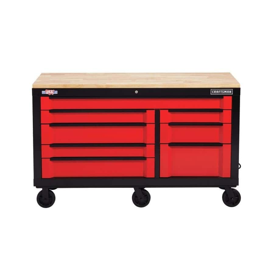 CRAFTSMAN 3000 Series 63-in W x 37-in H 8-Drawer Steel Rolling Tool Cabinet - Lowe's $798