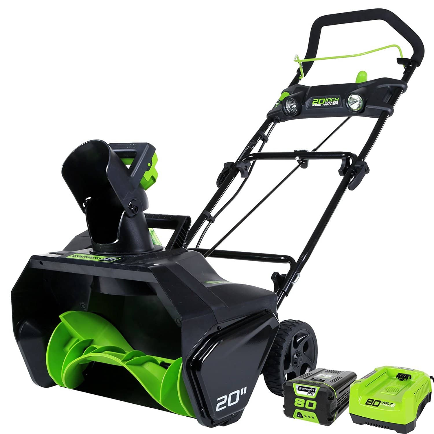 GreenWorks Pro 80V 20-Inch Cordless Snow Thrower, 2Ah Battery & Charger Included $219 or 206.75 $206.75