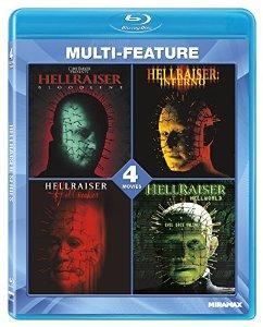 4 Hellraiser movies on Blu-Ray $9.49 at Amazon.com