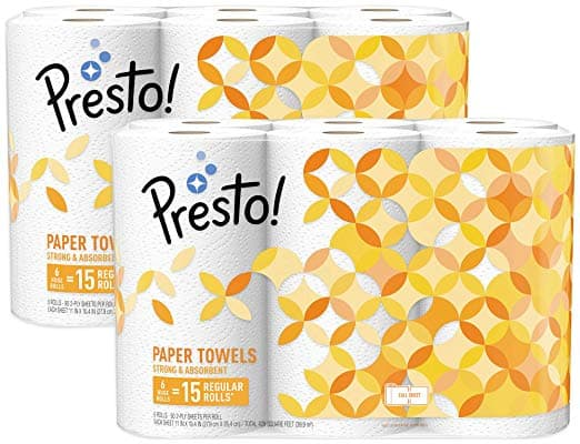 1f2cdf7981058 Amazon Brand - Presto! Full-Sheet Paper Towels, Huge Roll, 12 Count ...