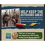 FREE 2015 Grizzly Outdoor Corp Membership Kit