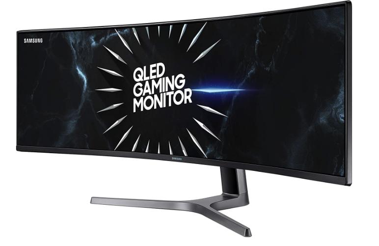 SAMSUNG 49-Inch CRG9 Curved Gaming Monitor, Black, QHD, 120Hz $899.99 at Amazon