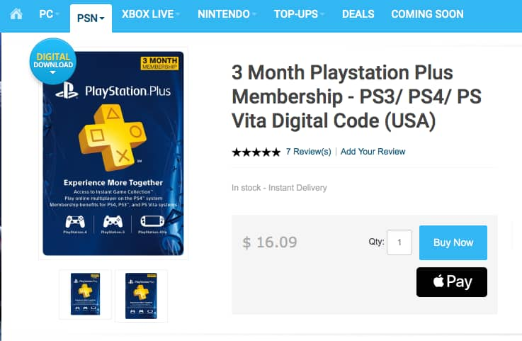 3-Month Playstation Plus Membership [digital code]