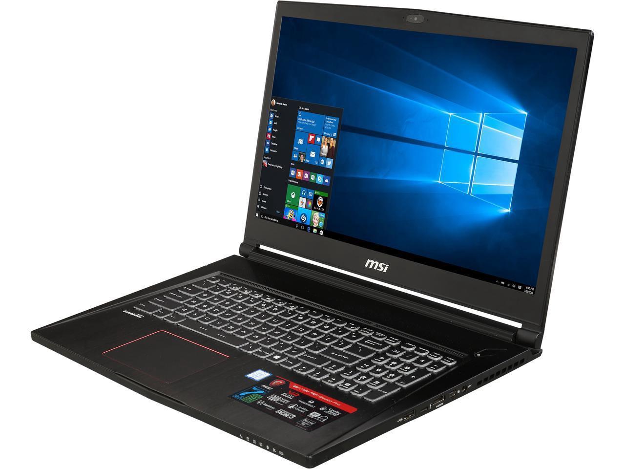 Refurb MSI GS73 6RF Stealth Pro Laptop 17 Inch 16GB RAM Nvidia 1060 $729