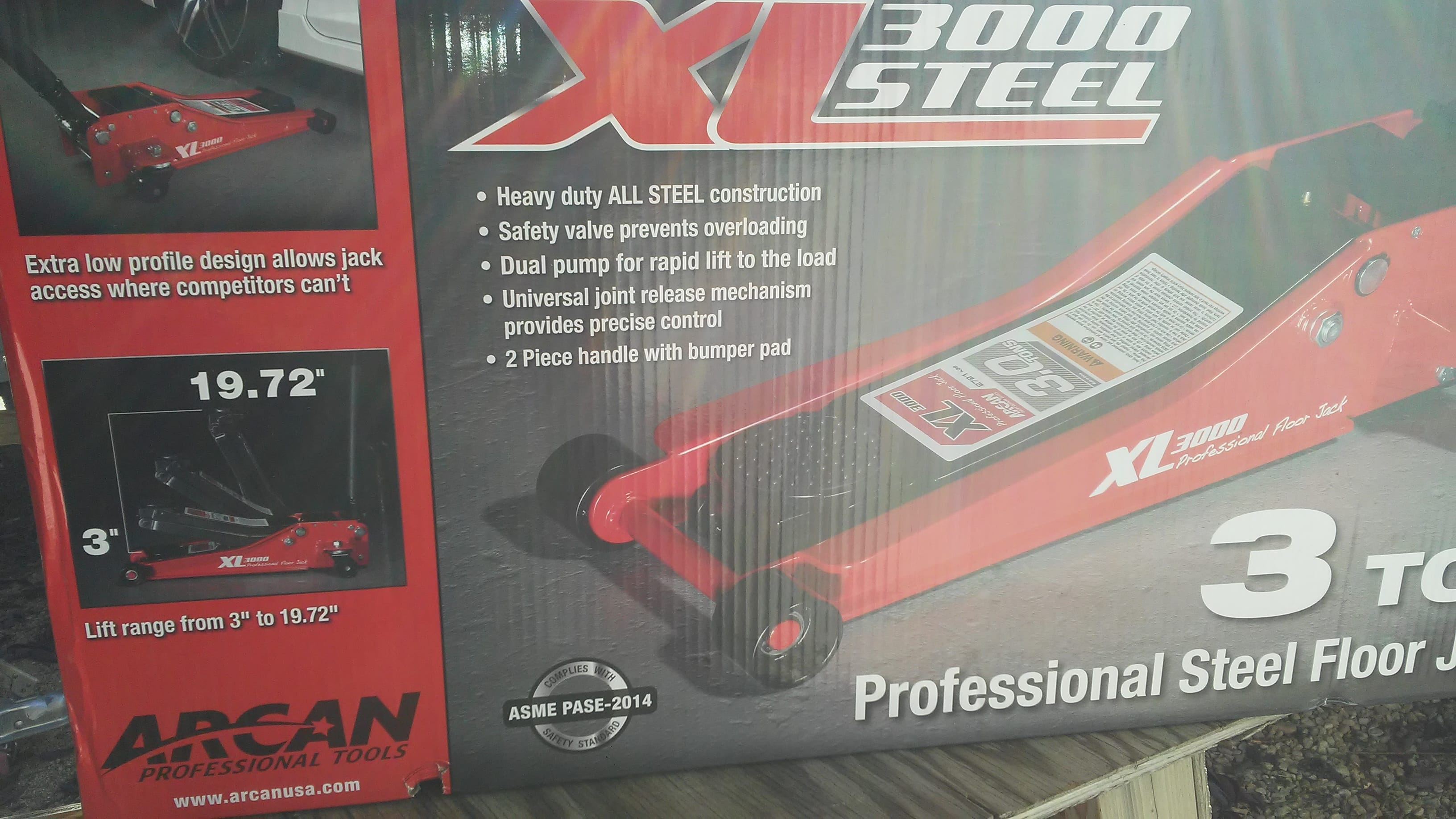 Costco in-store Arcan XL3000 Low Profile 3 Ton All Steel Jack $94.99