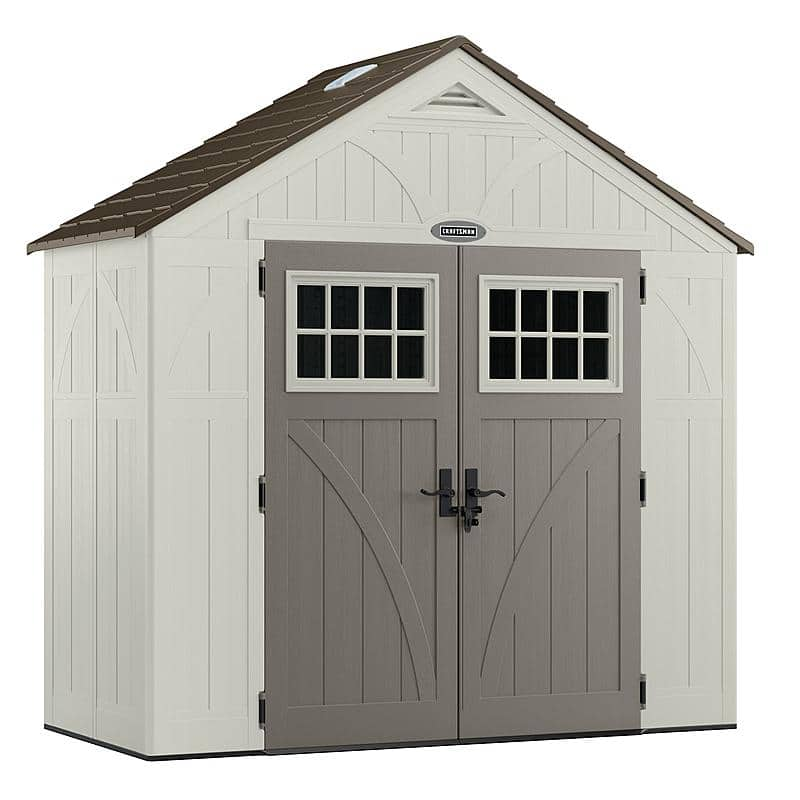 """1st time Post: B&M YMMV -- Sear Outlet has a floor model of Craftsman 8'4.5"""" x 4'3/4; Resin Storage Shed, in store pickup (Shipping is +$81.99) $422.99"""