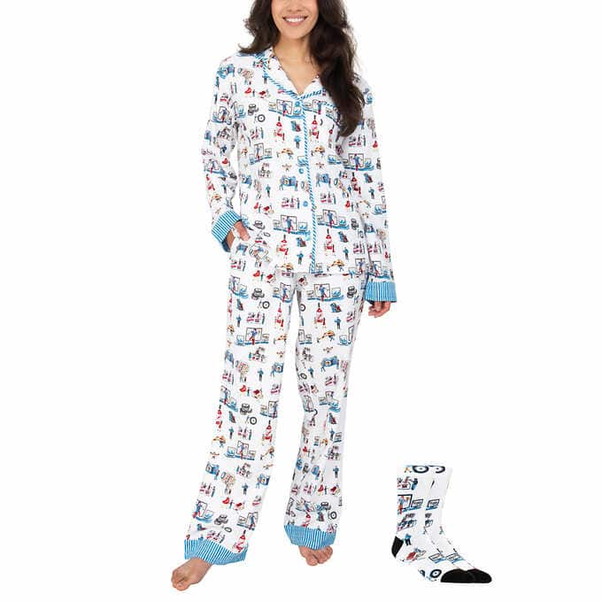Costco themed PJs with socks. $15.99 online only