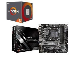 AMD Ryzen 2600 + ASRock B450M PRO4 Motherboard $206.98AR ($216.98-10MIR) Newegg